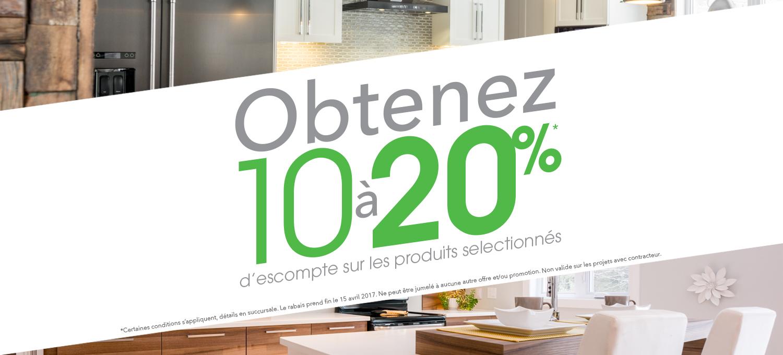 Promotion 10% à 20% d'escompte